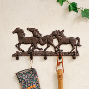 Cast Iron Equestrian Wall Hook - bathroom