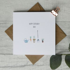 Personalised Gardening Birthday Card