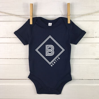 Diamond Personalised Babygrow