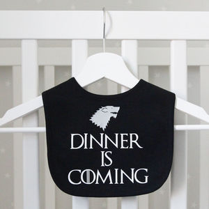 Game Of Thrones Style Stark Bib - new baby gifts