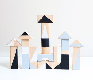 Monochrome Wooden Blocks - baby toys