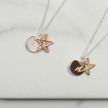 Personalised Star Overlay Necklace Gift For Her