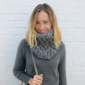 Fairtrade Handknit Wool Fleece Lined Neckwarmer Scarf - scarves