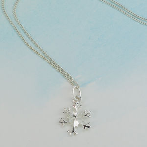 Sterling Silver Snowflake Necklace - necklaces & pendants