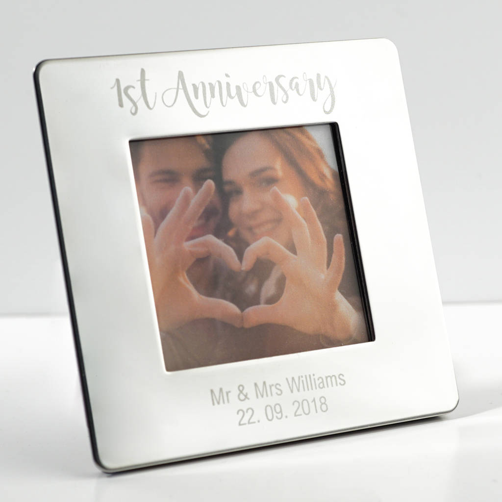b2214597ecd6b first anniversary picture frame by wue