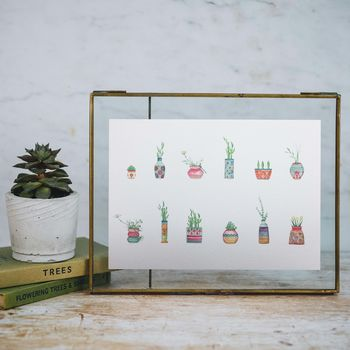 Tropical House Plant Print
