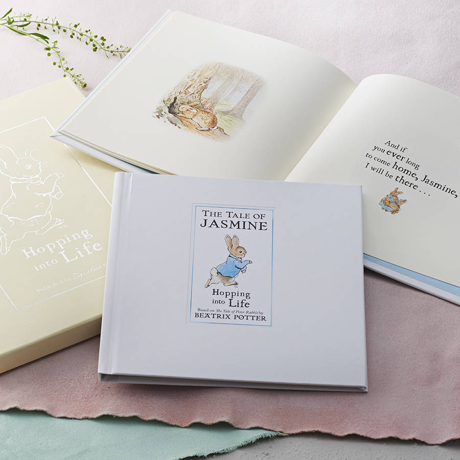 Christening gifts for boys and girls notonthehighstreet personalised tale of peter rabbit gift boxed book gifts for babies negle Image collections