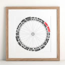 Typographic Bike Wheel Print