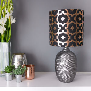 Metallic Lampshade In Black And Copper - dining room