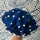 Shower Cap Navy Spot