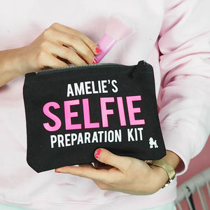 'Selfie Preparation Kit' Make Up Bag Personalised - 16th birthday gifts