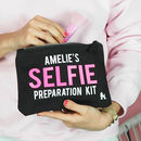 Personalised make up bag selfie preparation kit
