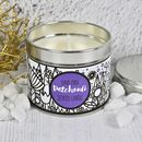Patchouli Scented Hand Made Candle In A Tin