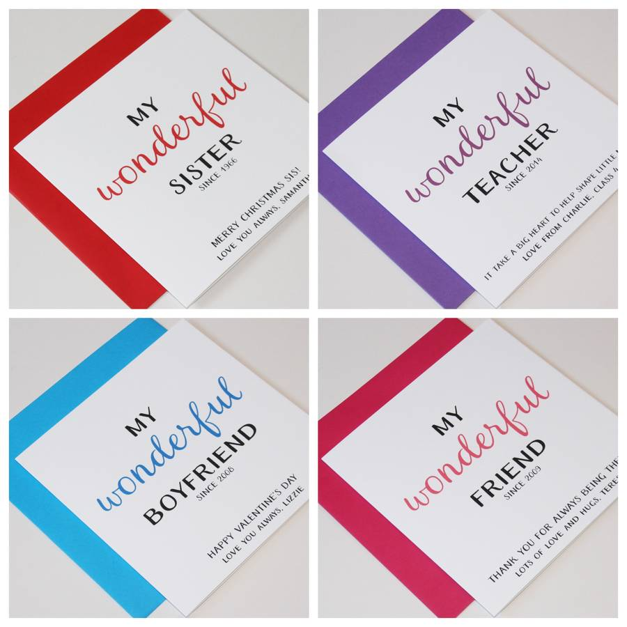 Personalised Occasions 'My Wonderful…' Greeting Card