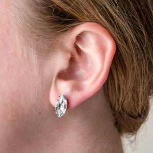 Crystal Marquise Stud Earrings