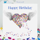 Butterfly Birthday Card, Angel Birthday Card