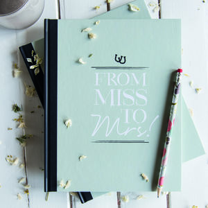 Hen Party Message And Memory Book In Pistachio