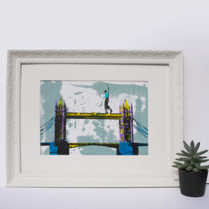 'Tower Bridge' Original Screen Print London - limited edition art
