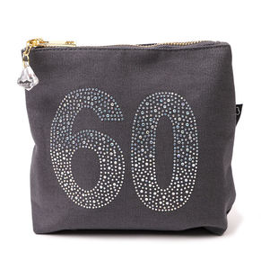 60th Birthday Sparkly Make Up Bag - new in health & beauty