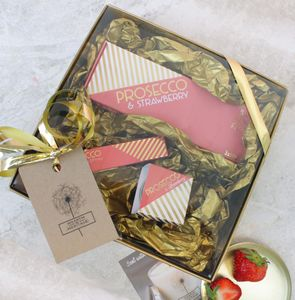 Prosecco Themed Treat Gift Box - bath & body