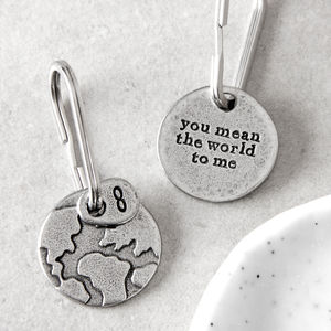 'You Mean The World To Me' Keyring - birthday gifts