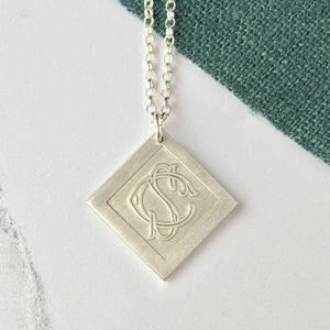 Personalised Sterling Silver Entwined Monogram Necklace