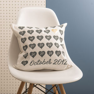 Special Date Black And Gold Cushion - engagement gifts