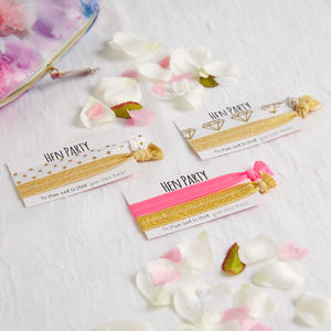 Hen Party Favour Hair Ties