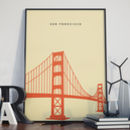 San Francisco Golden Gate Bridge Landmark Print