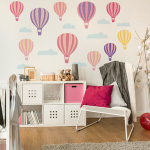 Hot Air Balloon Wall Stickers - office & study
