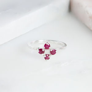 Ruby Cross Ring - rings