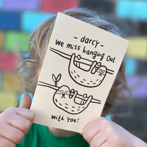 Sloths We Miss You Card