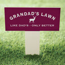 Personalised Garden Lawn Sign On A Stake