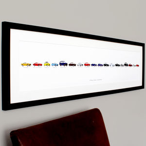 Personalised Carvolution® Print - 70th birthday gifts
