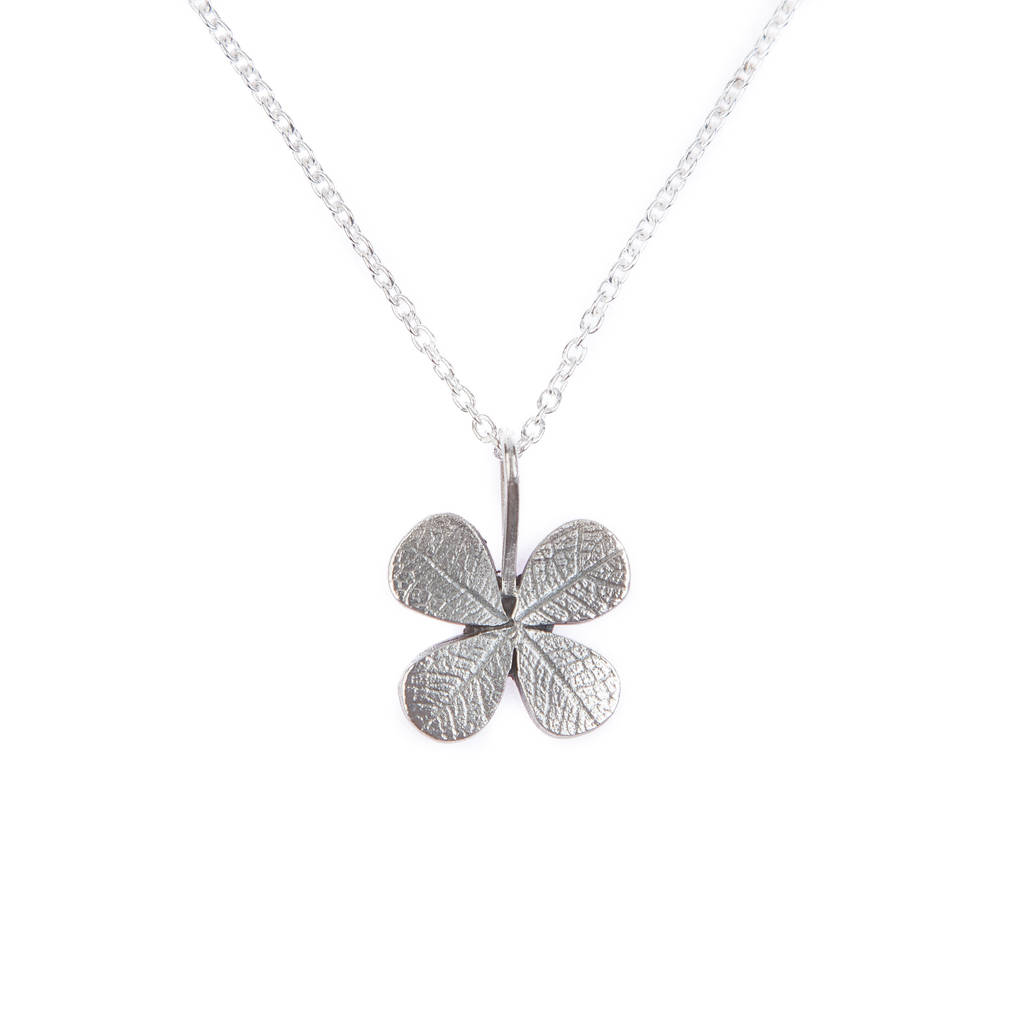 Four leaf clover pendant by love from england notonthehighstreet four leaf clover pendant mozeypictures Image collections