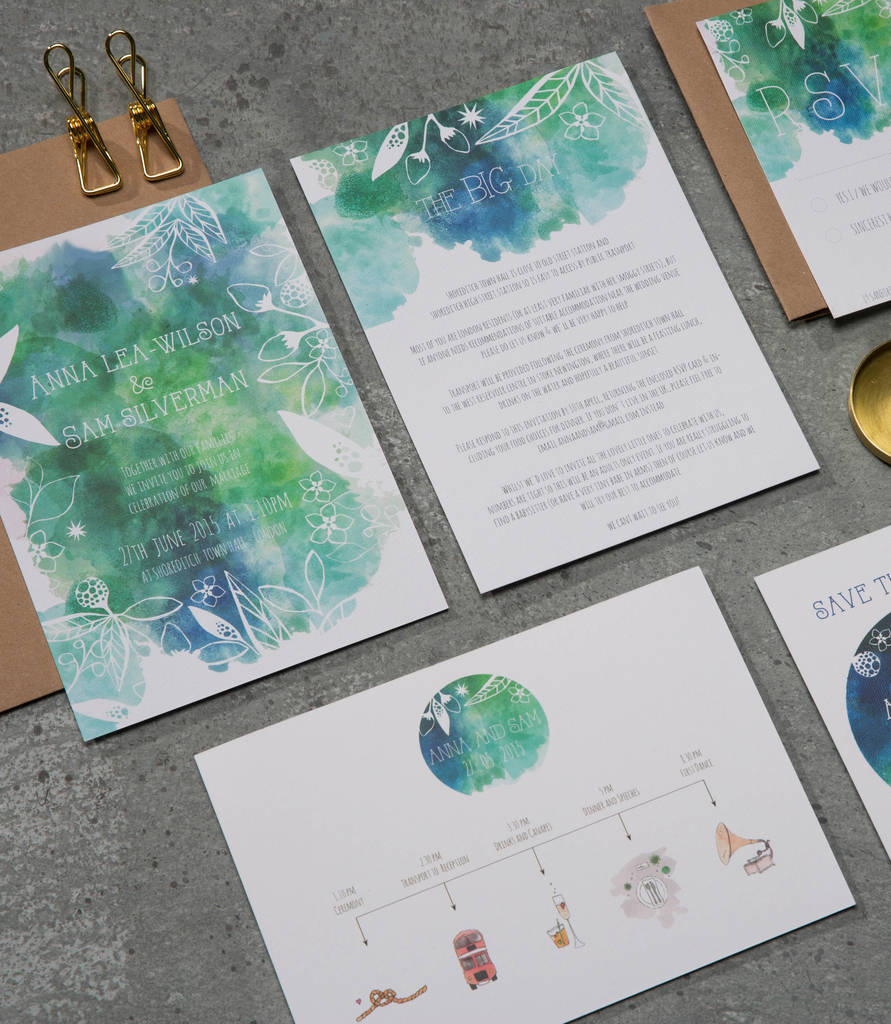 Botanical Wedding Stationery Suite