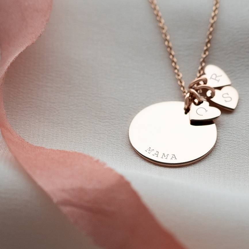 Personalised Sterling Silver Heart Family Necklace by Bloom Boutique