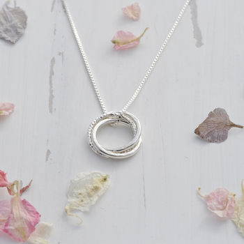 Silver Russian Ring Necklace