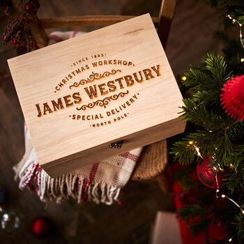 Christmas Workshop Wooden Christmas Eve Box