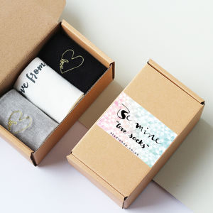 Personalised 'Be Mine' Love Sock Box - new in fashion