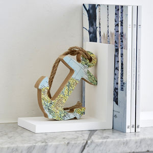 Personalised Map Location Anchor Bookend - baby's room
