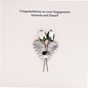 Engagement Congratulations Card Hand Made - engagement cards
