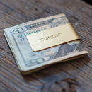 'Living Well' Brass Money Clip