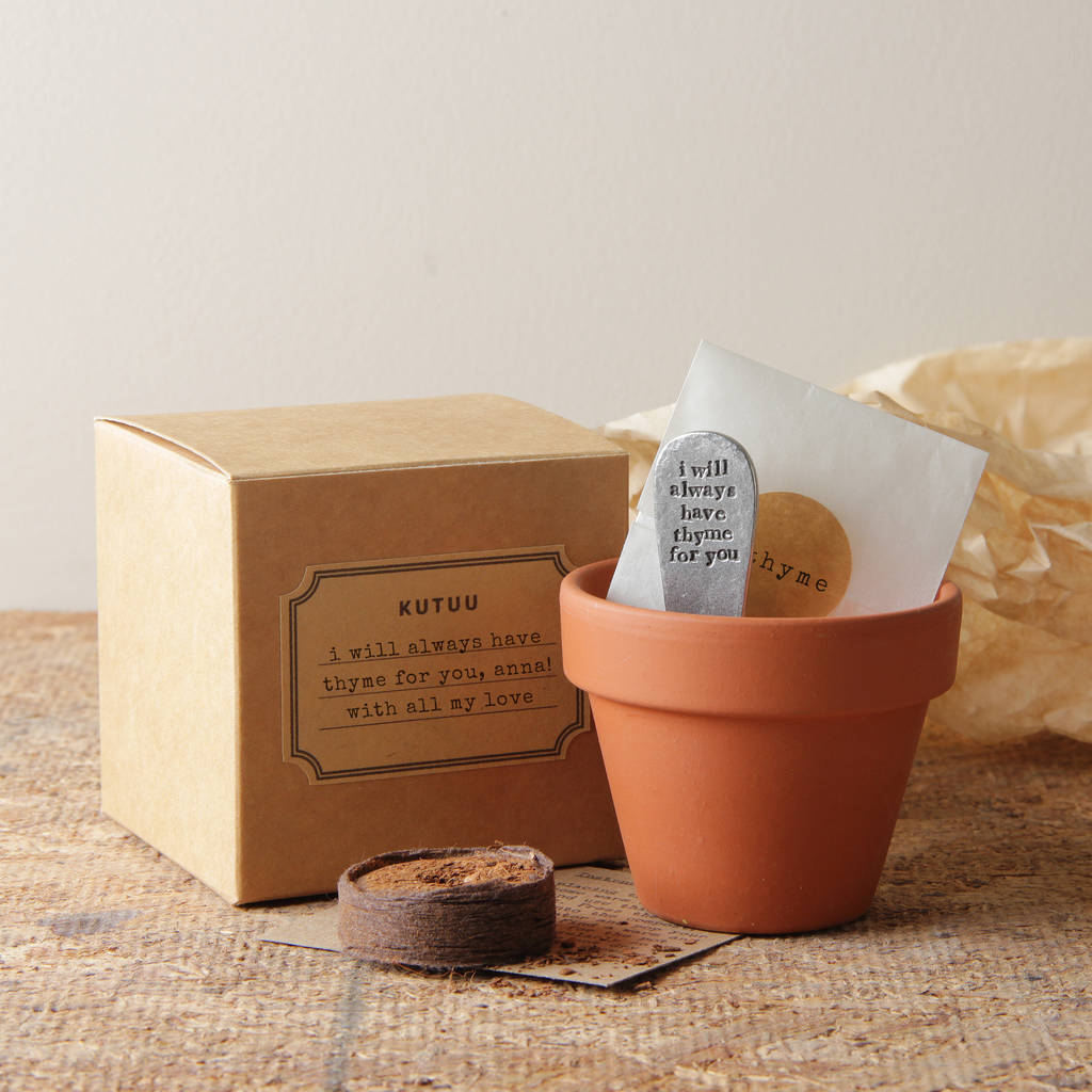 Personalised 'Always Have Thyme For You' Plant Set