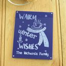 Warm Winter Wishes Personalised Family Acrylic Sign