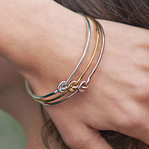 Personalised Tie The Knot Slim Bangle - bracelets & bangles