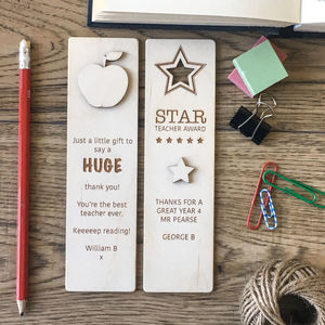 Personalised Teachers Bookmark
