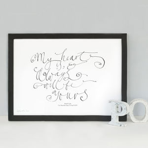 Personalised Love Gift 'My Heart Is And Always Will Be'