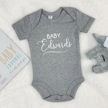 Personalised Script Writing Babygrow