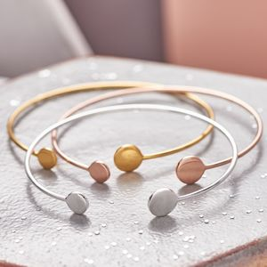 Open Cuff Double Circle Bangle - bracelets & bangles